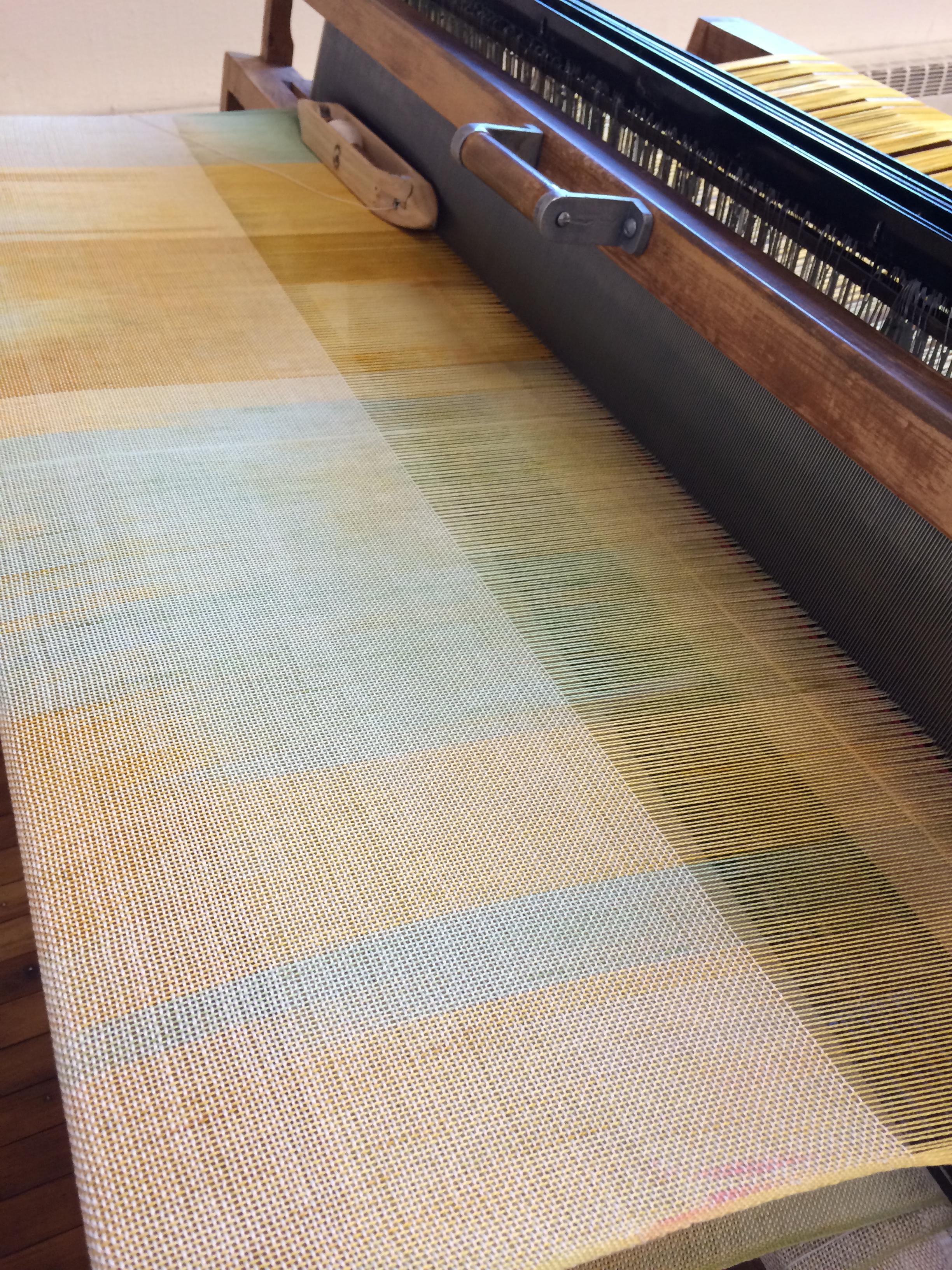 Process shot while weaving, its coming along