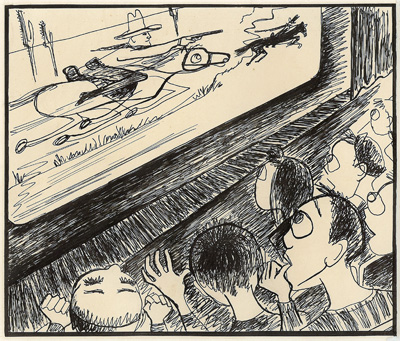 Original art by Vern Wiman @1950's