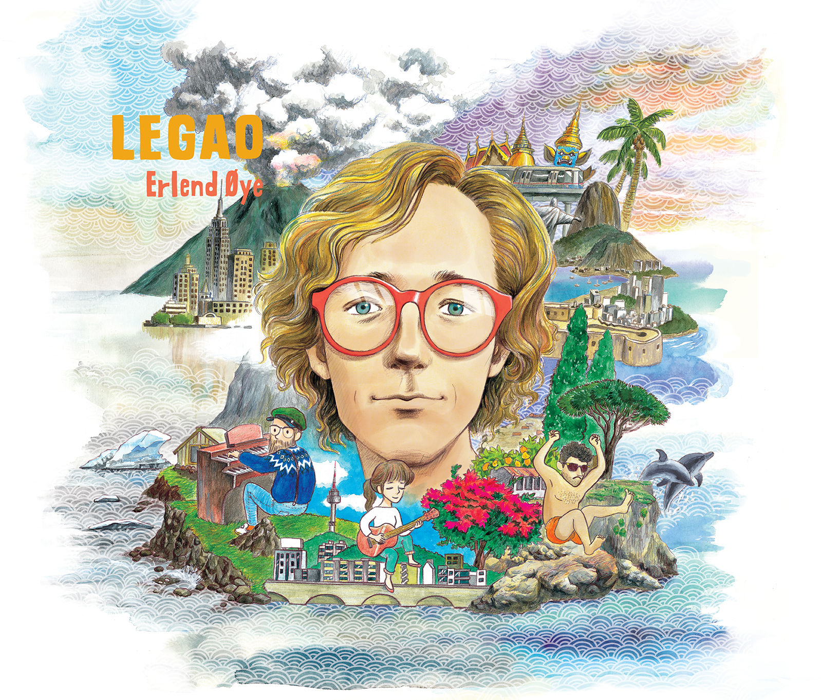 Erlend Øye <LEGAO> album cover illustration