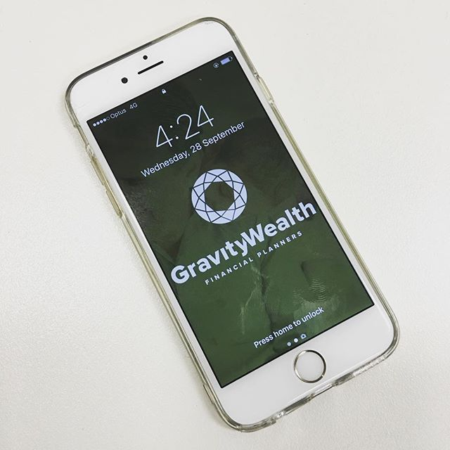 When you see your logo design on a phone screen 👌🏼 #winning #gravitywealth #branding #logos