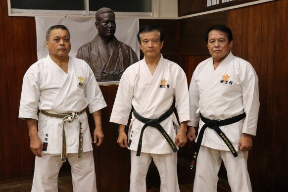 Tetsu Gima-sensei, Kazuya Higa-sensei, & Tsuneo Kinjo-sensei