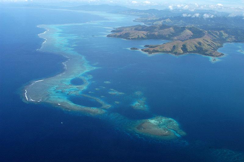 Rainbow Reef Aerial View
