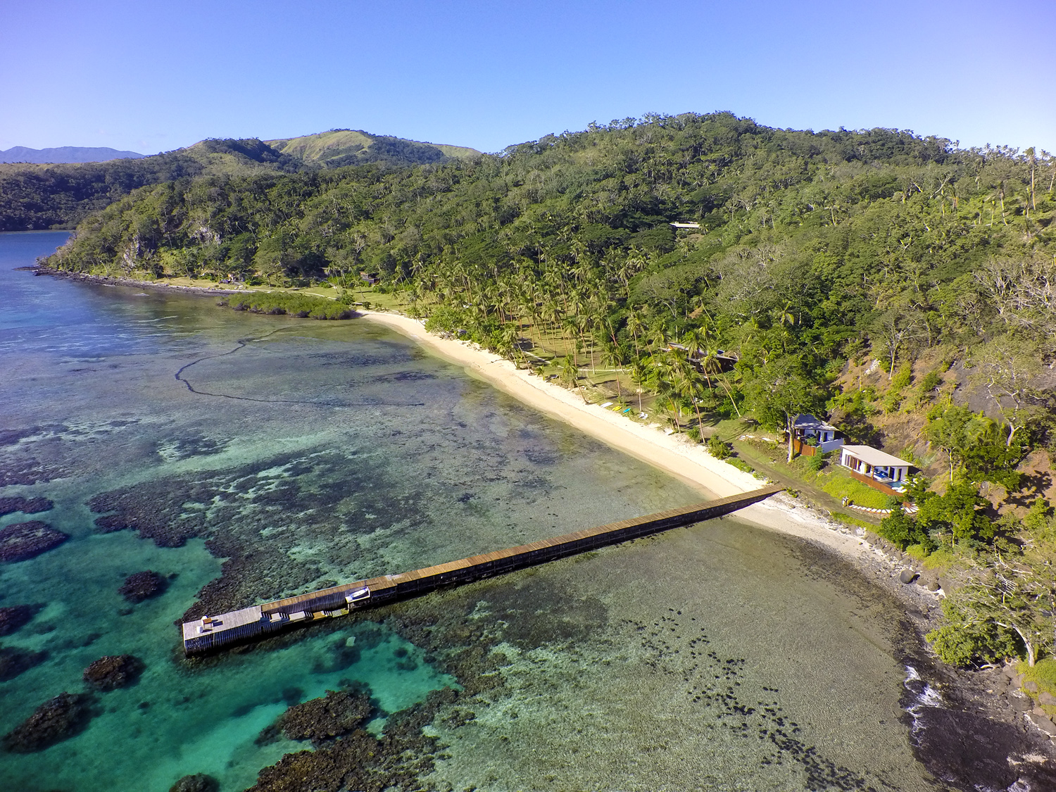 Aerial - The Remote Resort Fiji Islands - Jetty