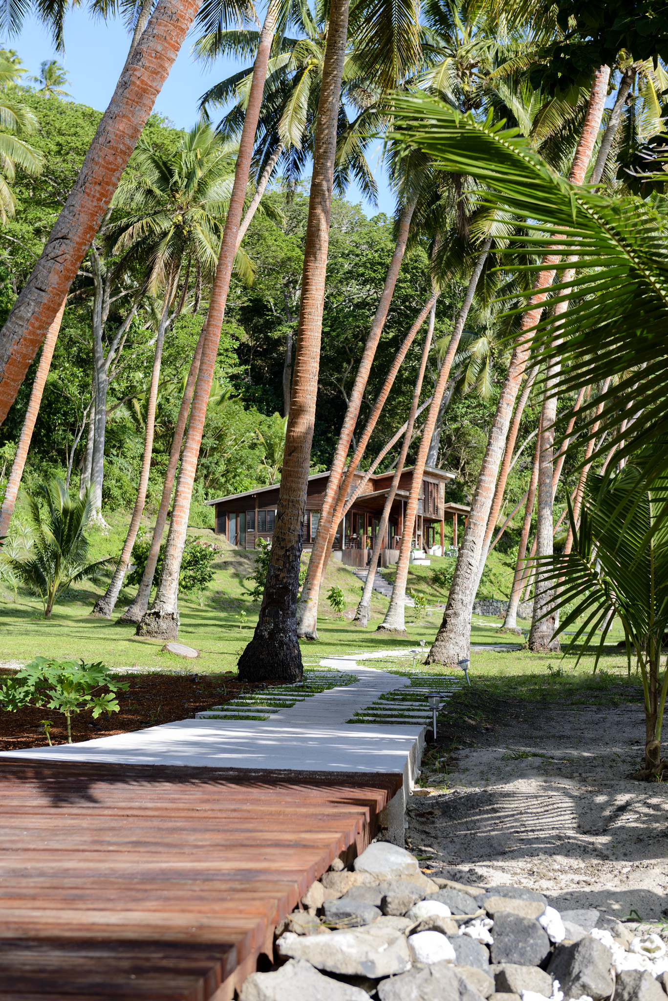 Pathway to the Main Pavilion - The Remote Resort, Fiji Islands