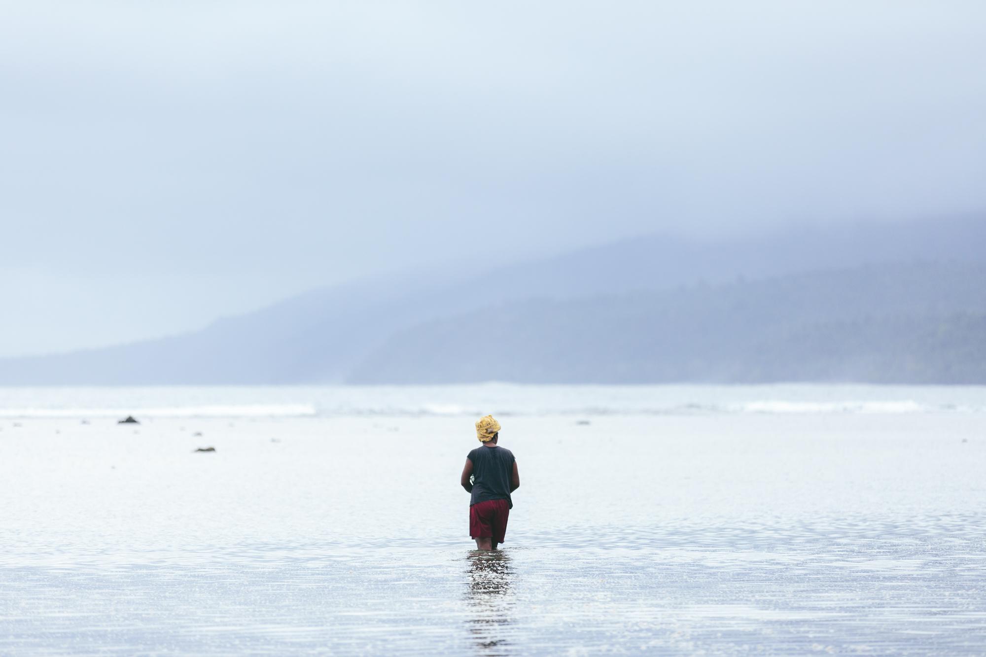 Fijian Lady Fishing- The Remote Resort Fiji Islands