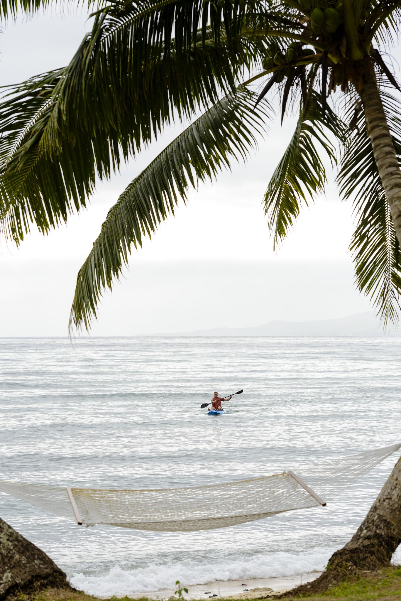 Kayak and Hammock- The Remote Resort Fiji Islands - Boutique Luxury Fiji Resort
