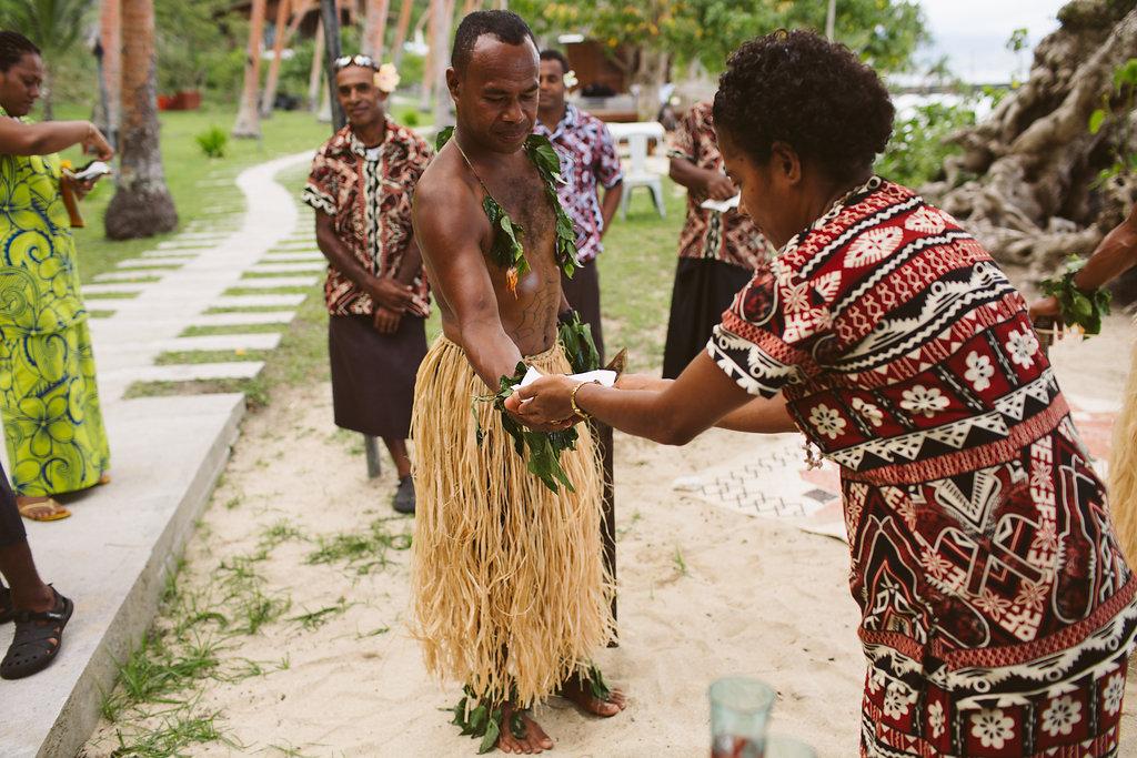 Fijian Wedding Warriors - The Remote Resort Fiji Islands - Luxury Fiji Wedding or Elopement