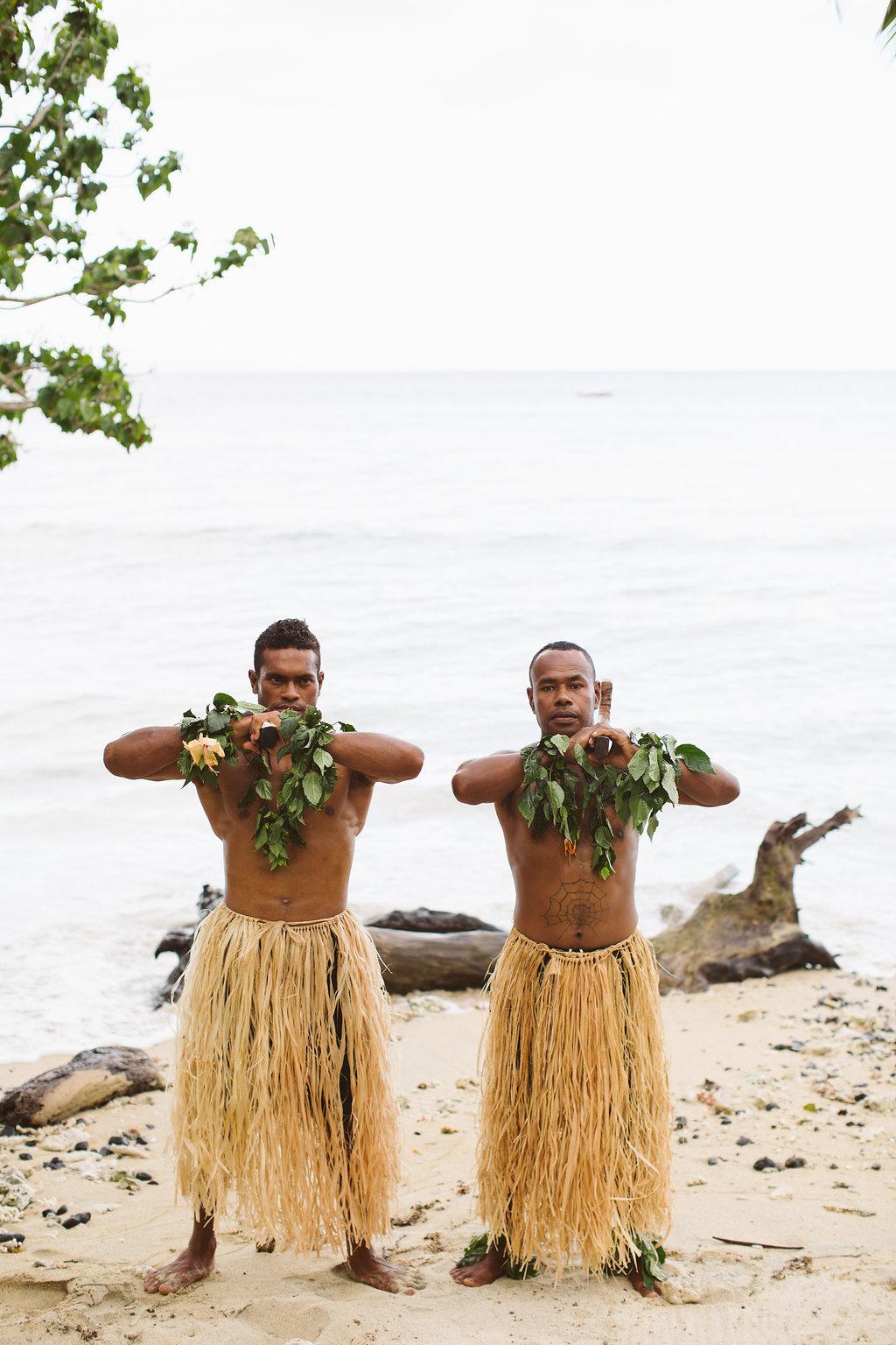 Fijian Wedding Warriors - Luxury Fiji Wedding or Elopement - The Remote Resort Fiji Islands - Off the beaten path ceremonies