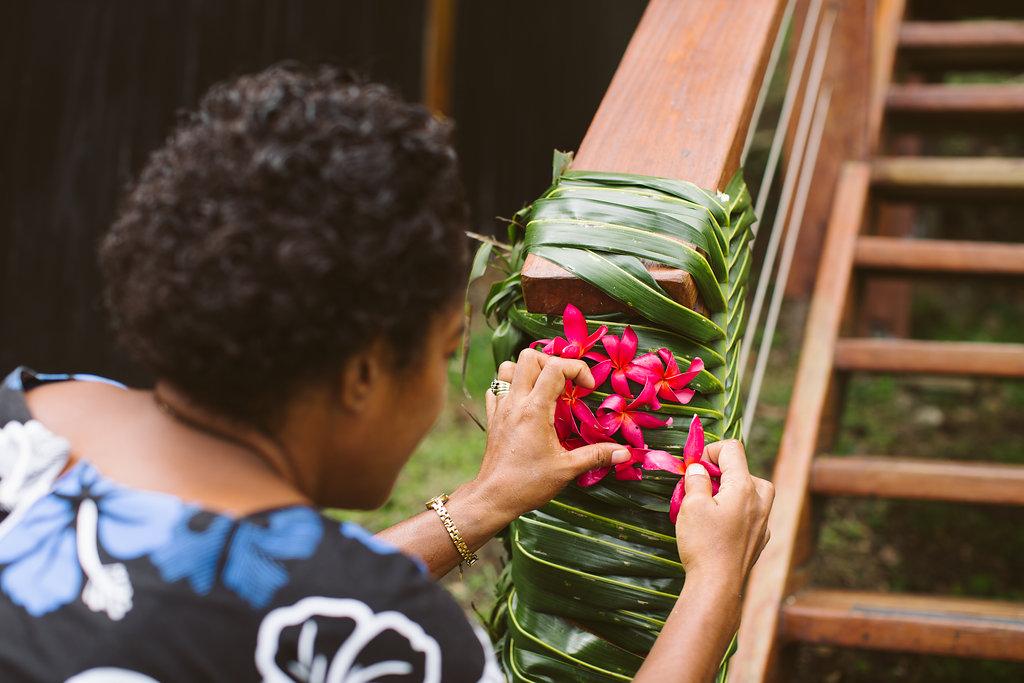FijiWedding Flowers - Luxury Fiji Wedding or Elopement - The Remote Resort Fiji Islands - Off the beaten path ceremonies