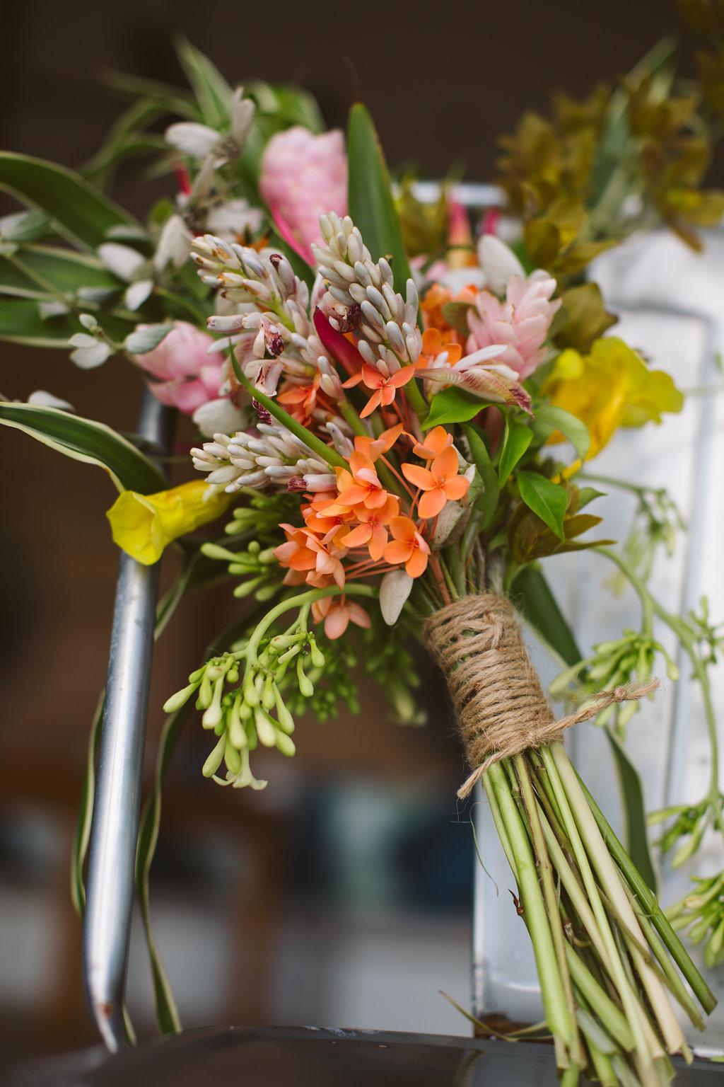 FijiWedding Bouquet - Luxury Fiji Wedding or Elopement - The Remote Resort Fiji Islands - Off the beaten path ceremonies - Tropical Flowers