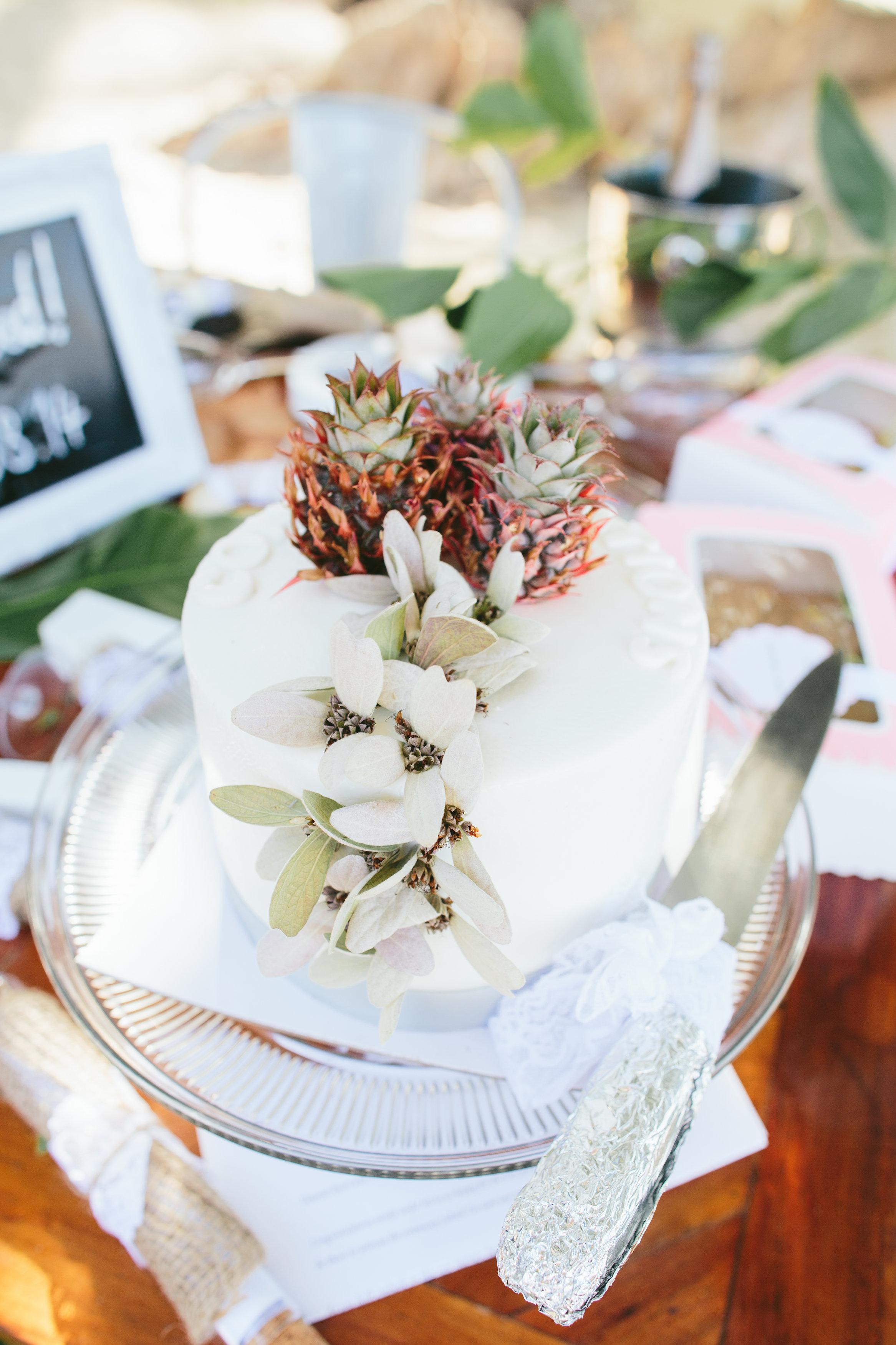 Fiji Wedding Cake - Fiji Wedding Elopement - The Remote Resort Fiji Islands