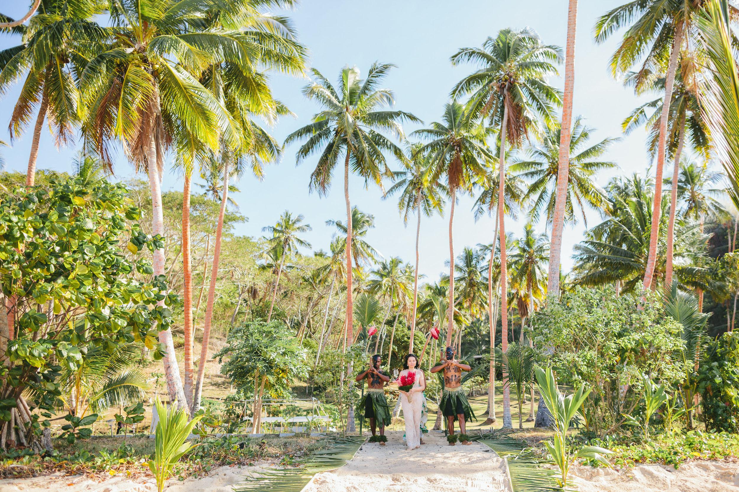 Fiji Warrior Escort- Fiji Wedding Elopement - The Remote Resort Fiji Islands