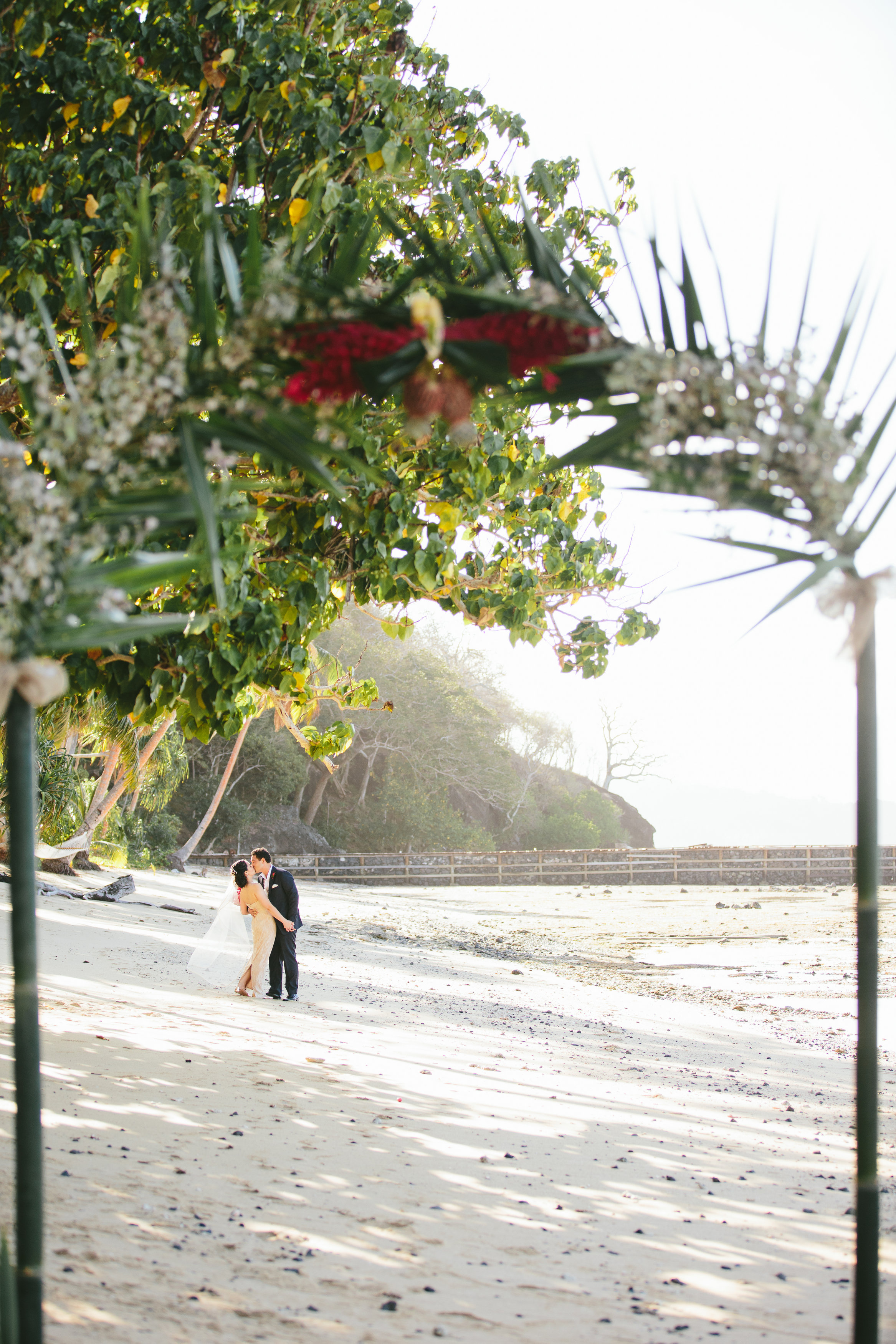 Red Ginger Arch - Fiji Wedding Elopement - The Remote Resort Fiji Islands - Wedding Arch decorations