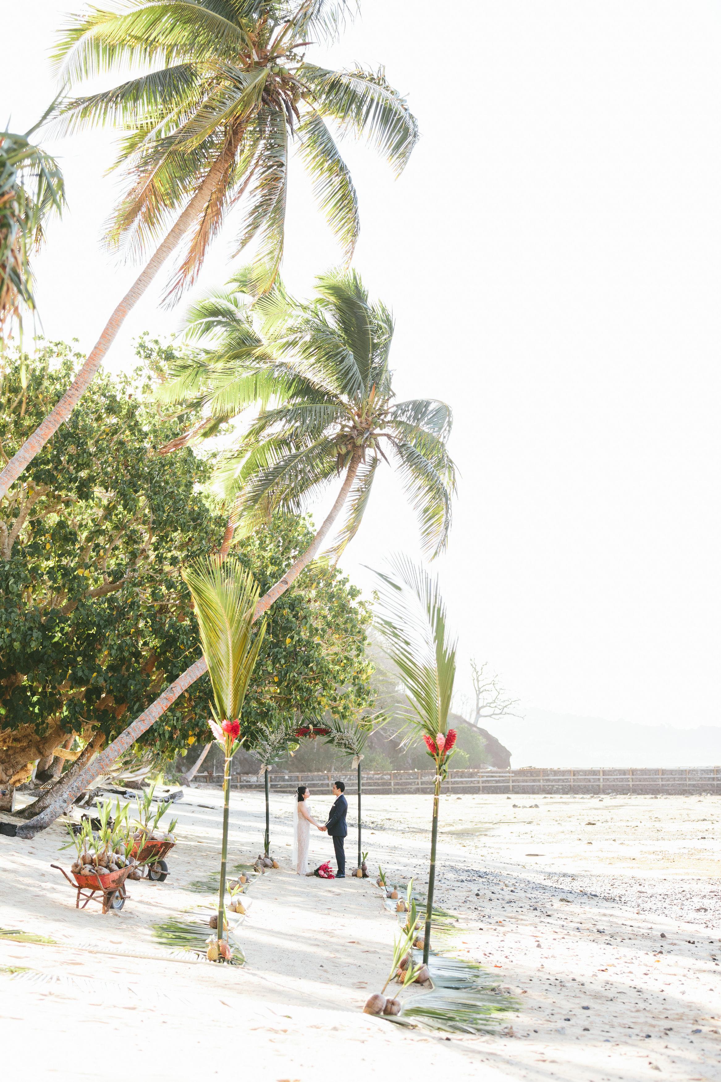 Fiji Beach Wedding Elopement Ceremony - The Remote Resort Fiji Islands
