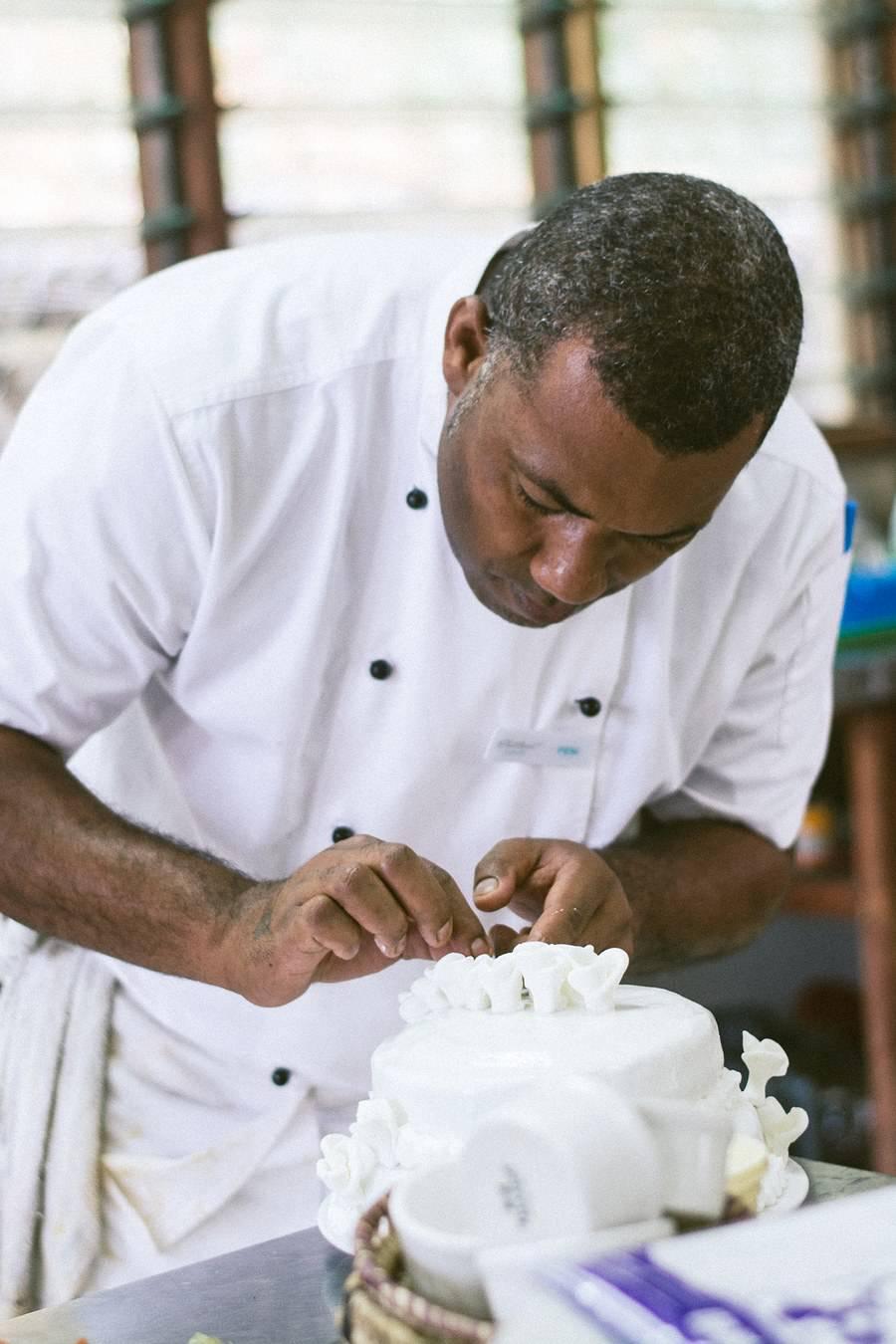 Fiji Wedding Cake - Fiji Beach Wedding Elopement - The Remote Resort Fiji Islands