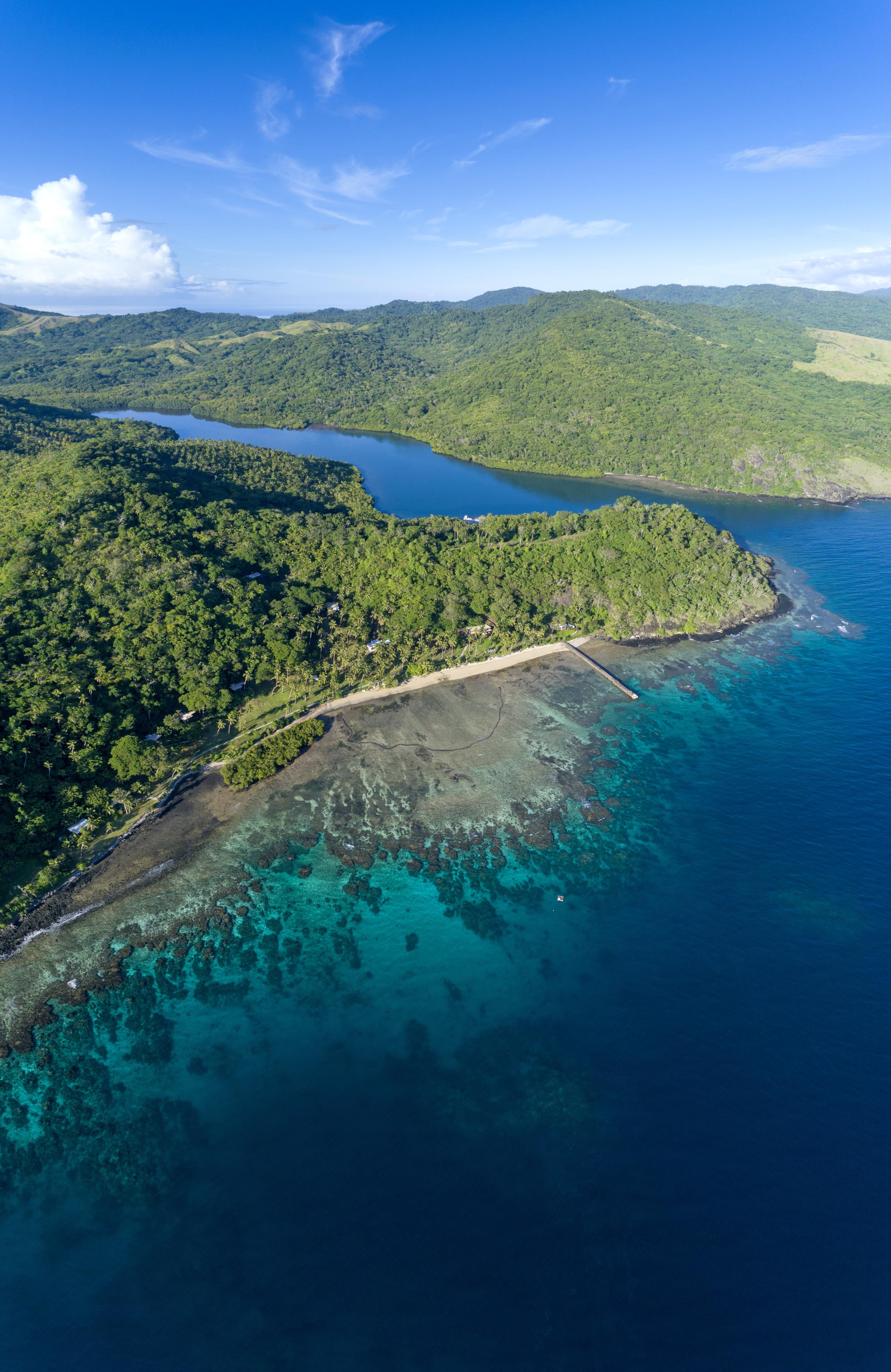 Best Fiji Luxury Resort - Aerial Back Bay - The Remote Resort Vanua Levu.jpg