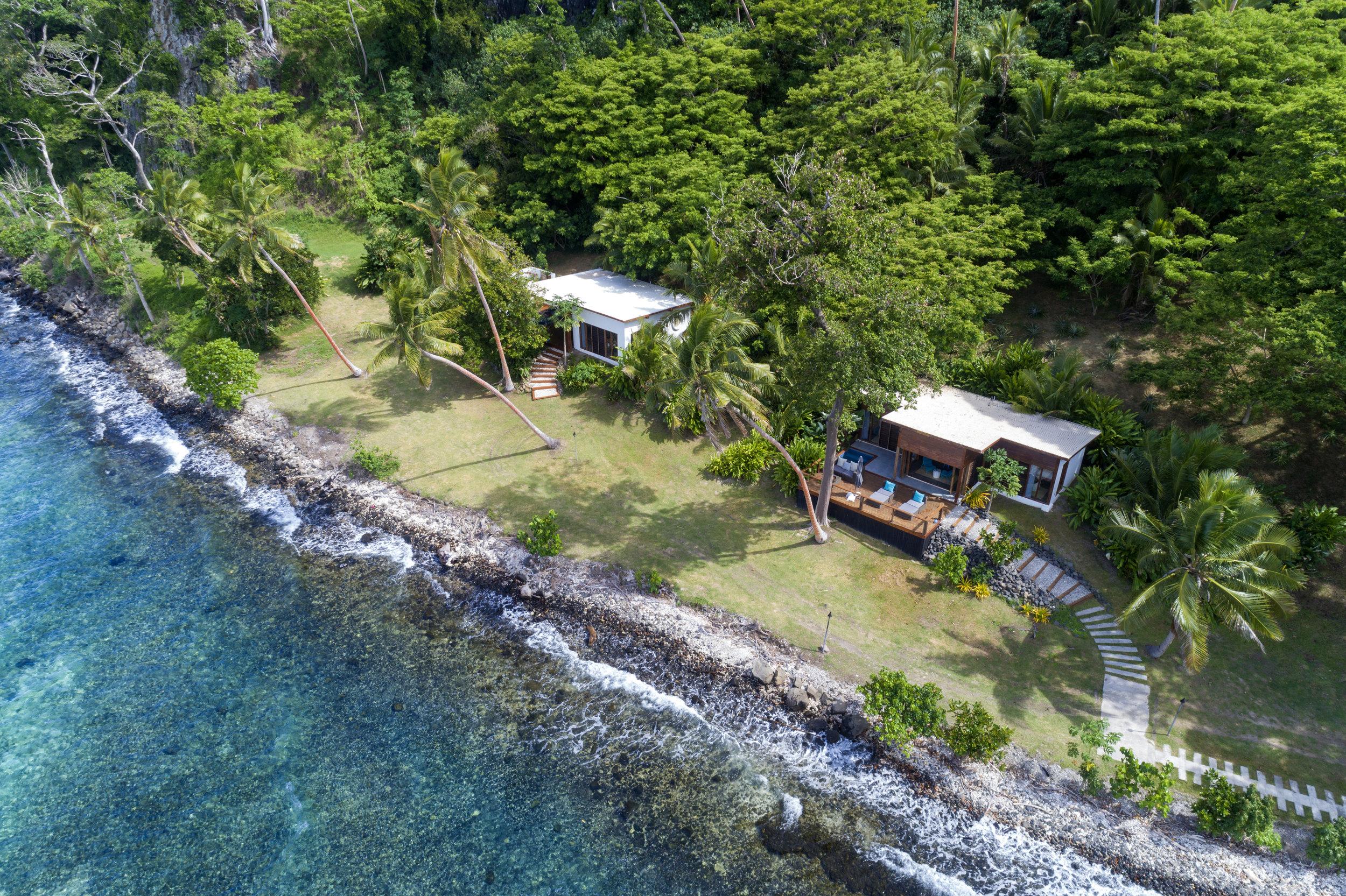 Fiji Resort - Aerial of Royal Retreat (on left)