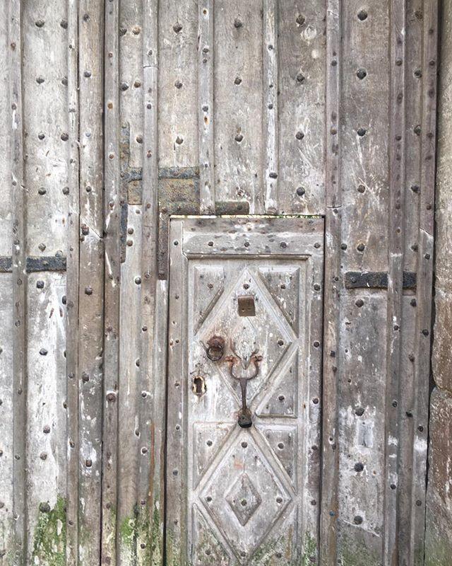 A door within a door #woodendoor #bishop #palace #moat #swan #exploring #ancient #bishops_palace_wells
