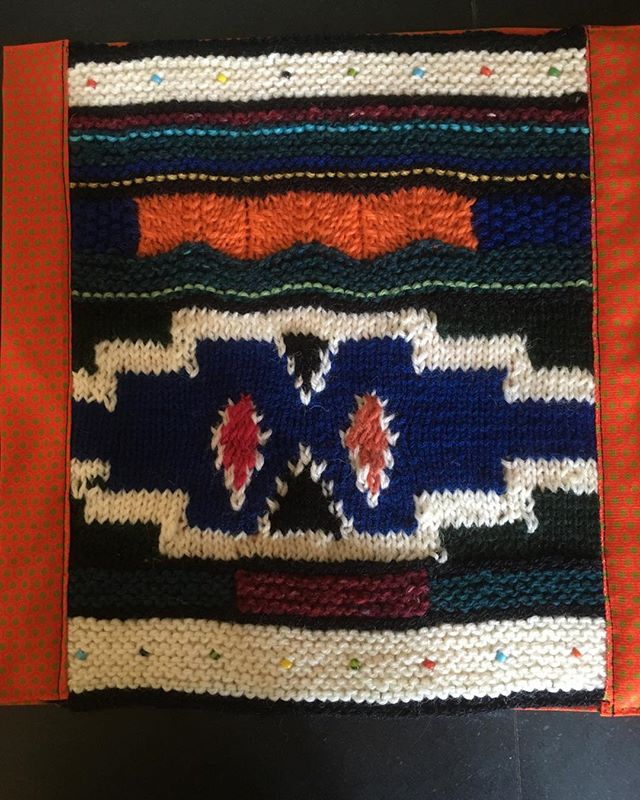 #ndebele #knitting with a #shweshwe border for a #quilt #getwellsoon #africa 🇿🇦