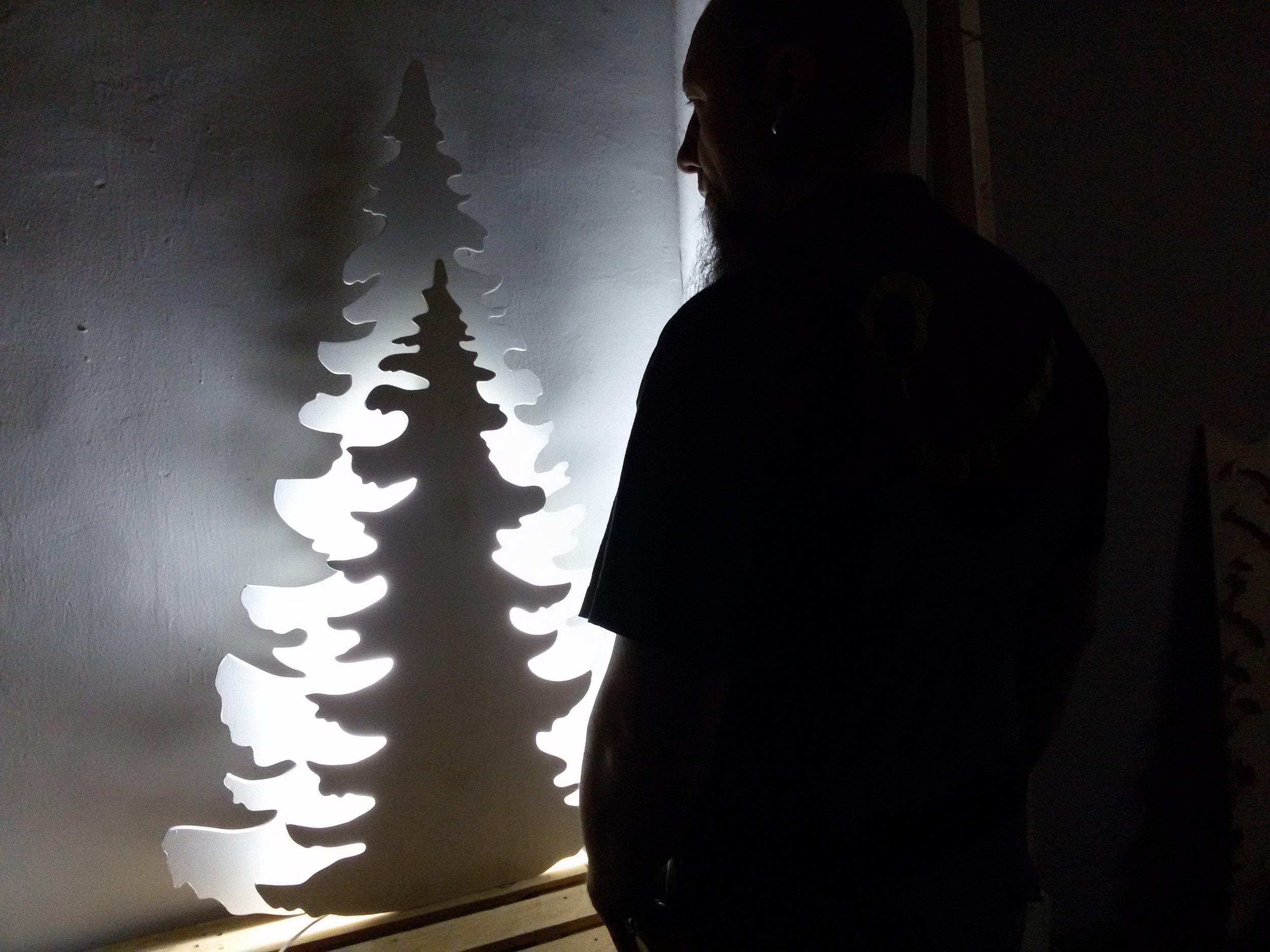 Двухслойная ёлочка с подсветкой 1,3 м.