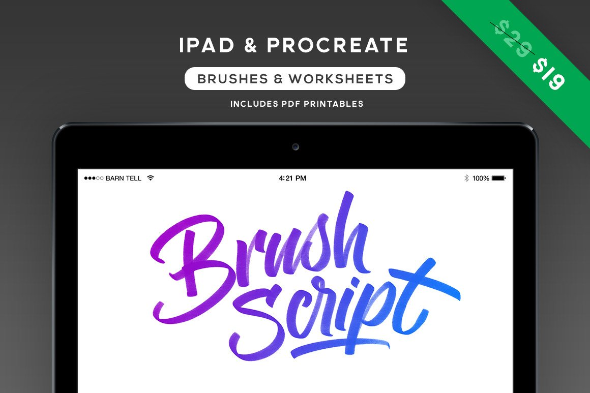 Brush Script Procreate Set