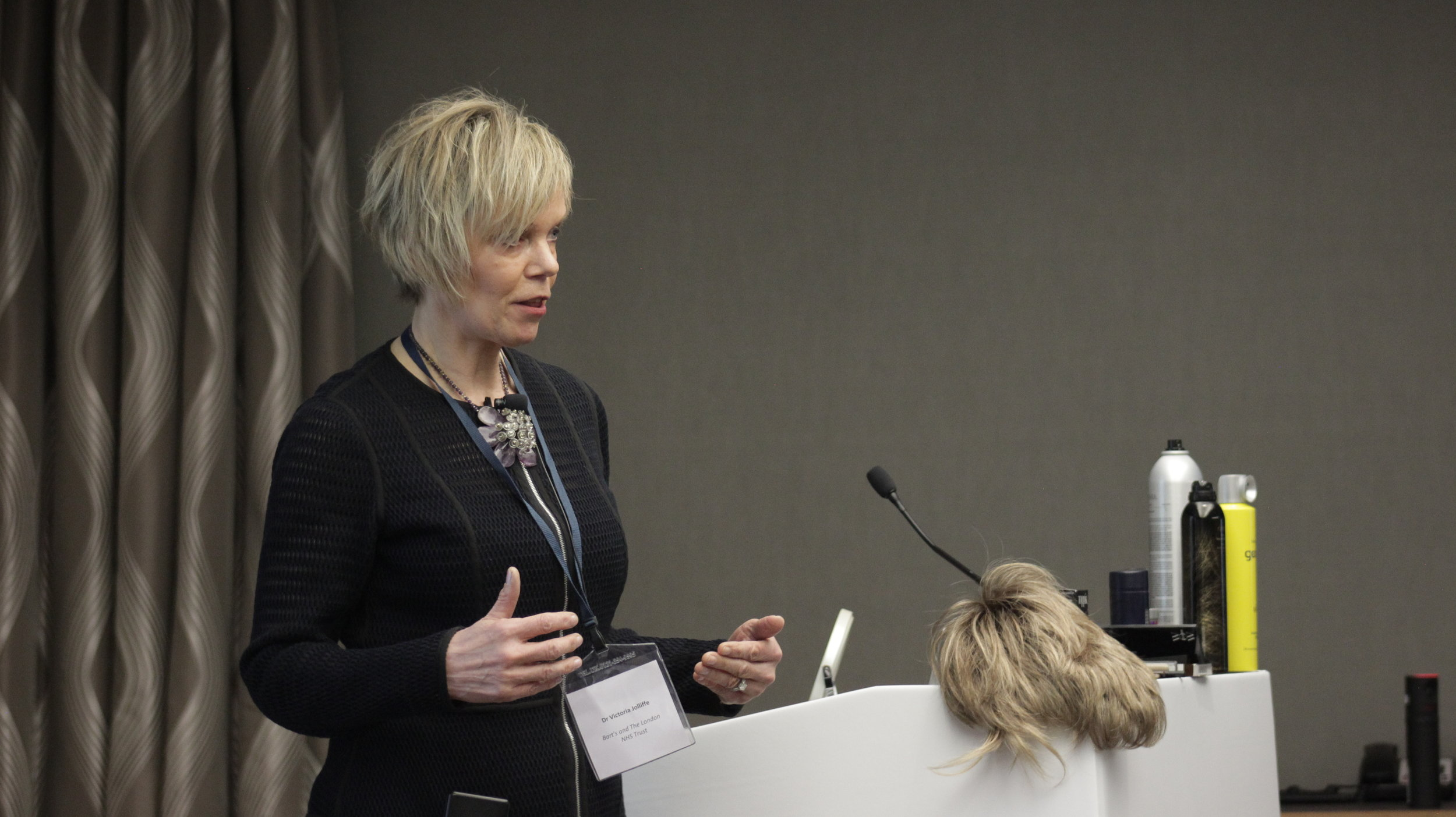 Dr Vicky Joliffe with her star presentation 'Cosmetic Management of Alopecia'