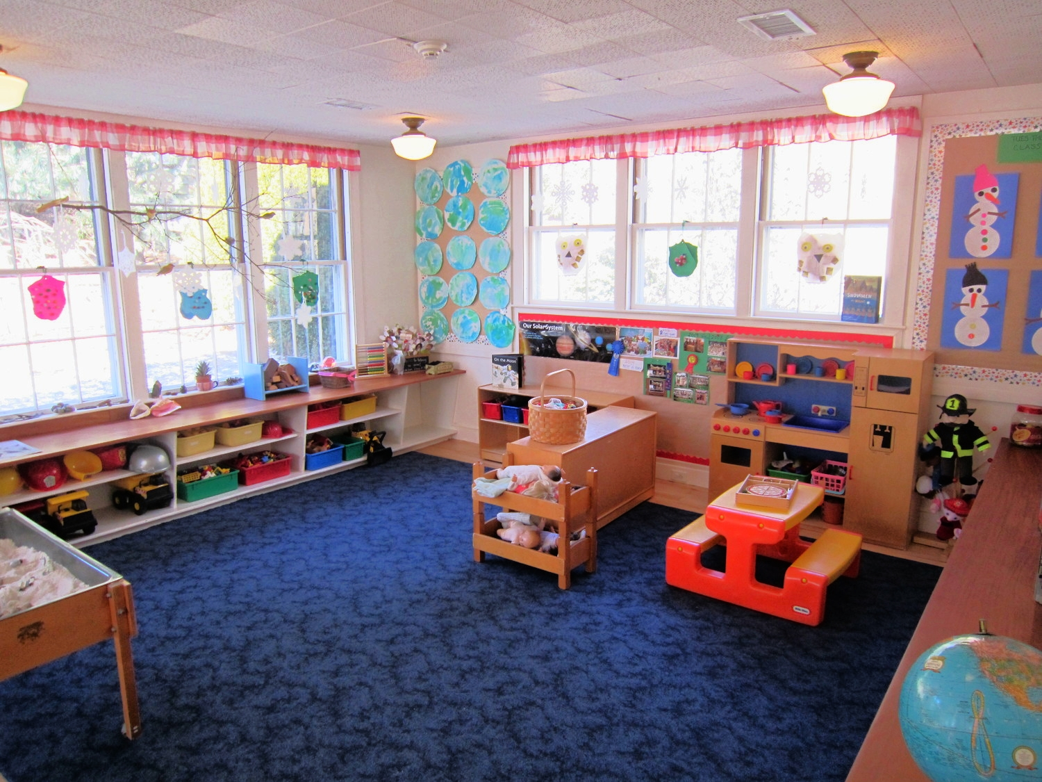Indoor play and activity space.