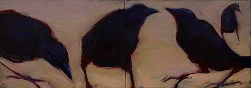 "Brewers Blackbirds,24 x 72"""