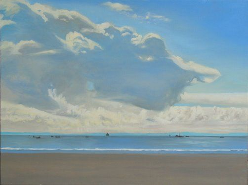 "Clouds East Beach,30 x 40"""