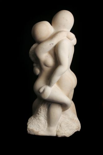 Return of the Warrior, 27 x 14 x 10, Kansas Limestone