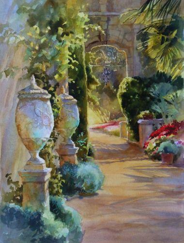 """Italian Garden,22 x 30"""""""