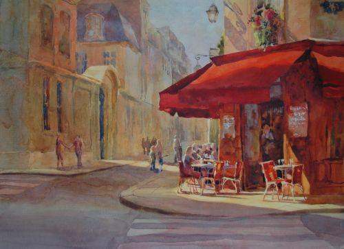 """Evening in Paris,22 x 16"""""""