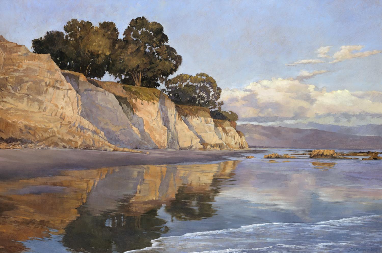 Shoreline at Dusk 24x36oil / linen