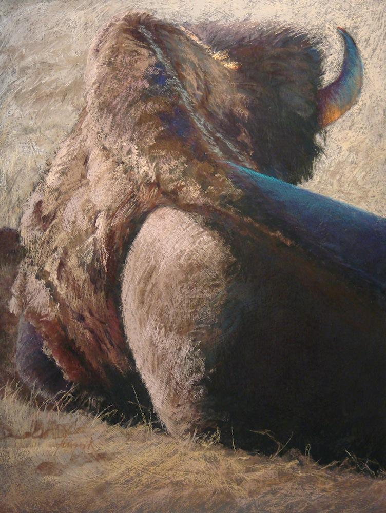 Bulldozing, 25x18, Pastel