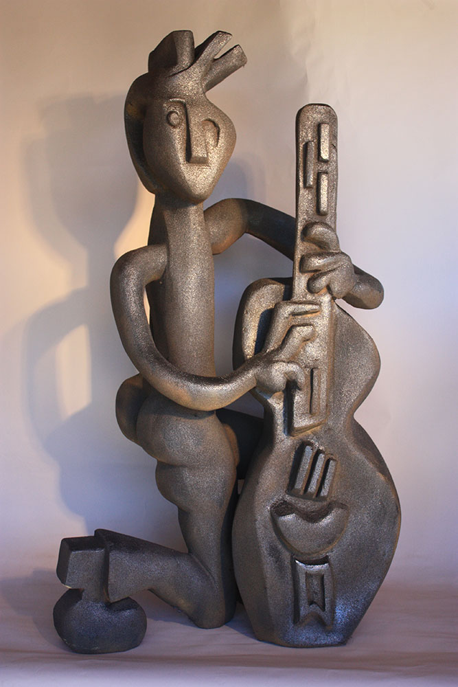 """Bass Guitarist"", Bronze, 48""x28""x16"""