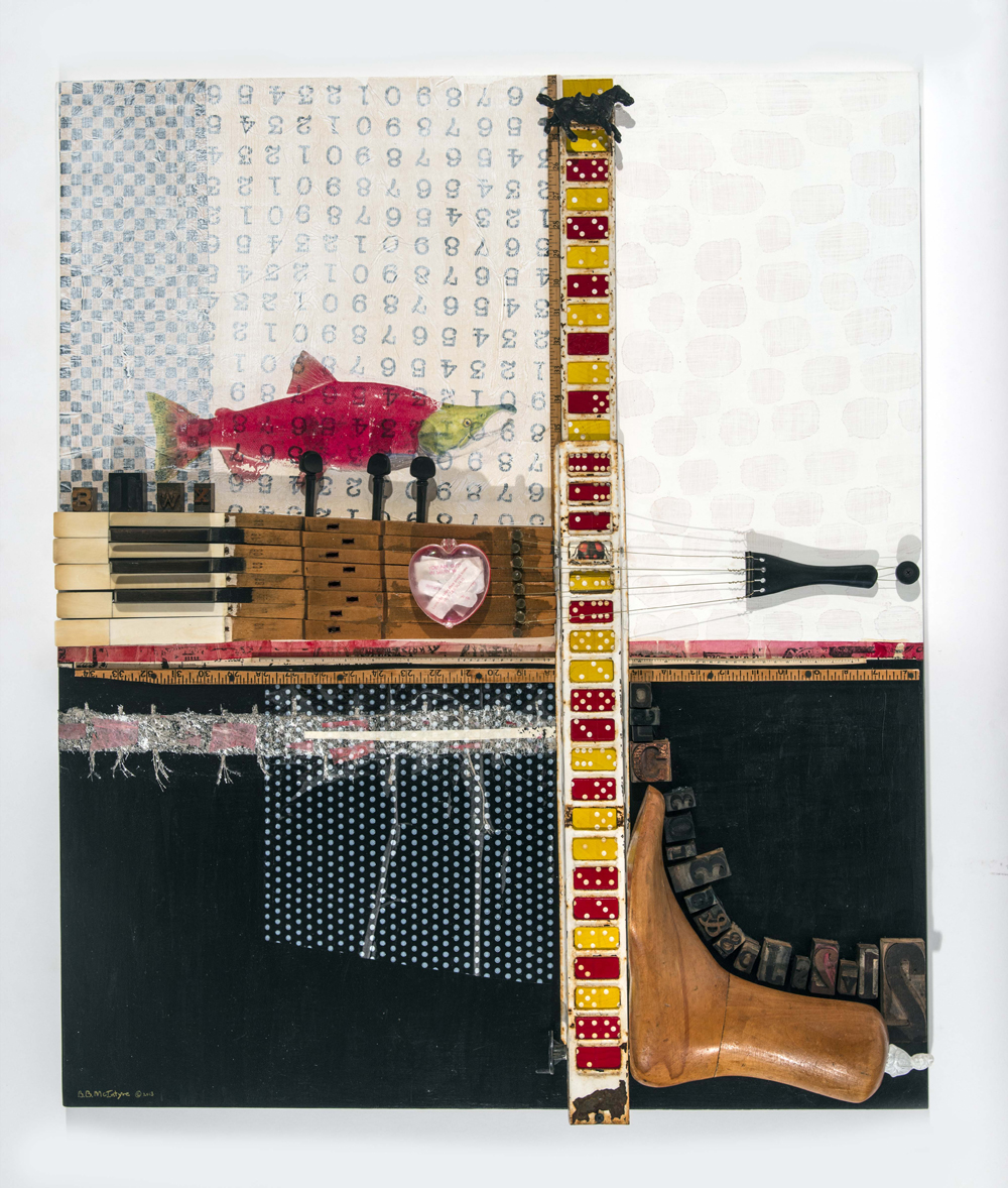 Learn the Rules, assemblage, 36x30x4