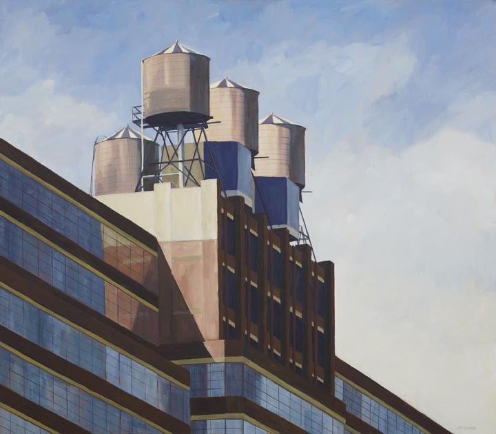 "From the High Line, No. 19, oil on canvas, 42"" x 48"""