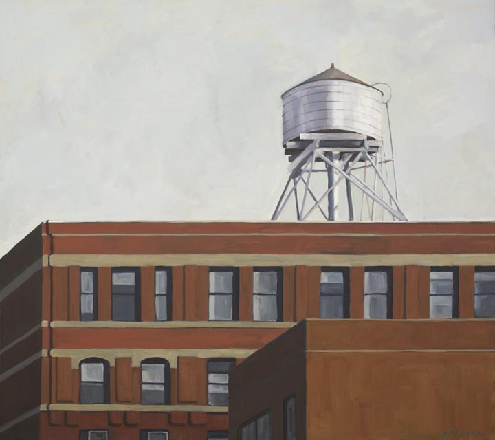 "PS 108, No. 28, oil on canvas, 32"" x 36"""