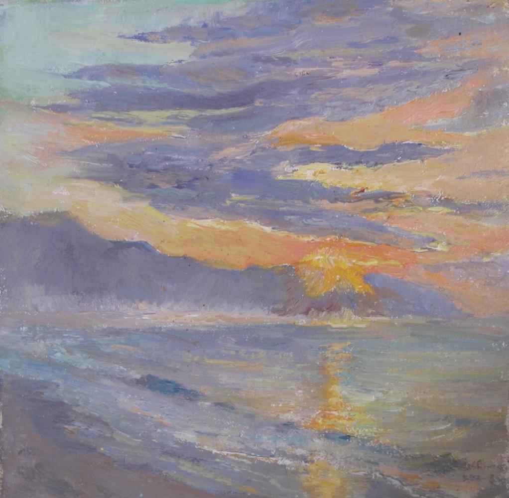 Miramar Sunrise   Oil   8 x 8