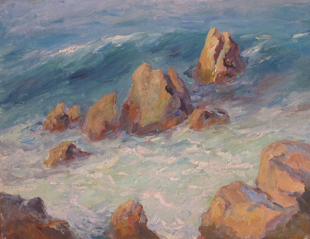 Monterey Surf   Oil   9 x 12
