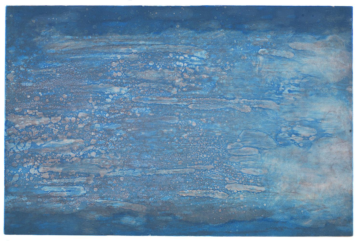 Blue Dazzle,Viscosity Monotype,24 x 16 in