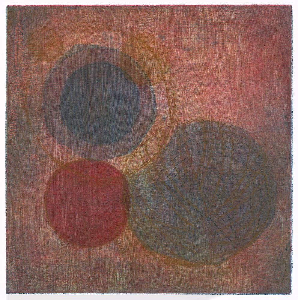 Los Mundos,Intaglio,9 x 9 in