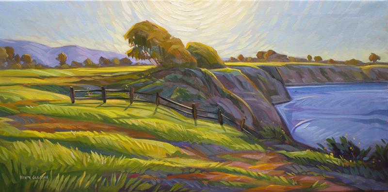 "Radiate, Oil on Canvas 18x36"""