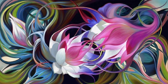 """Conversation 2, digital painting, 30x60""""."""