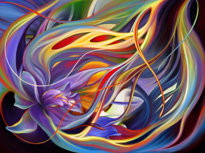 "Purple Orchid, digital painting, 45x60"""
