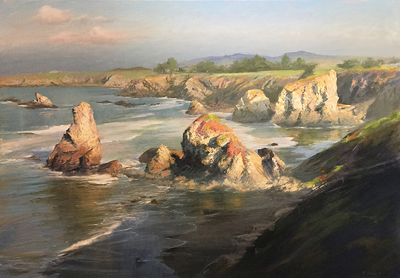 Rock Point, Sonoma Coast oil on canvas 28x40