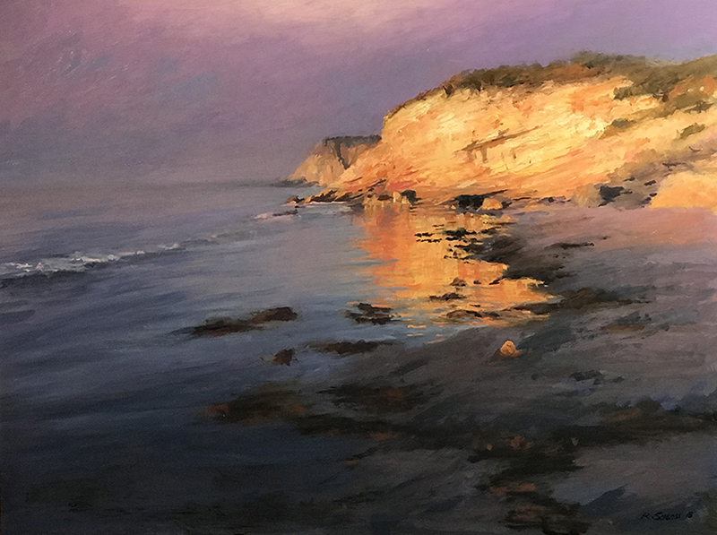 Sunrise Through the Fog, Gaviota Coast oil on canvas 18x24
