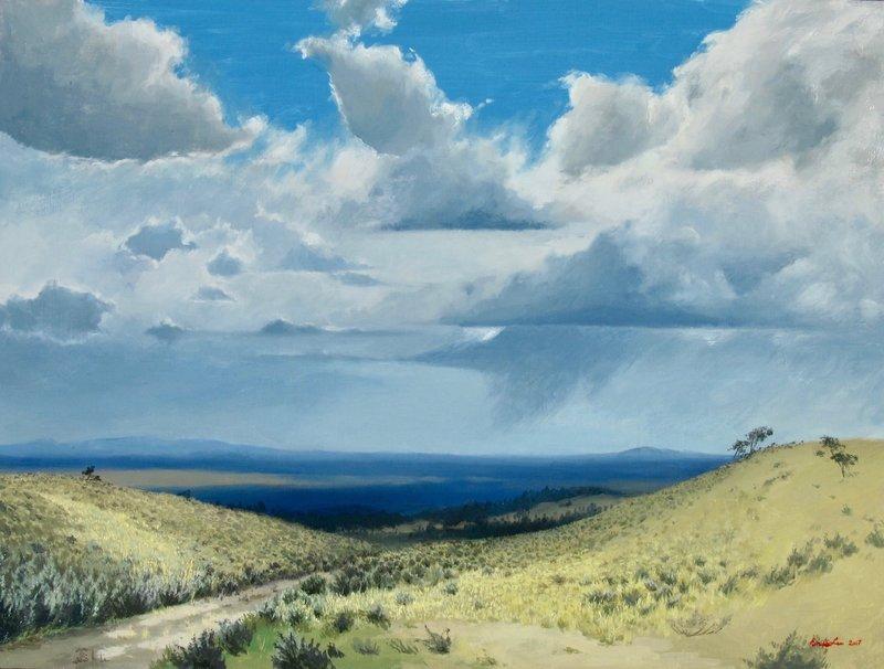 Prairie Skies, oil, 18x24