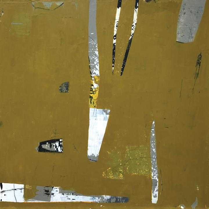"""Bubbly, Acrylic/mixed media on panel, 21x21"""""""