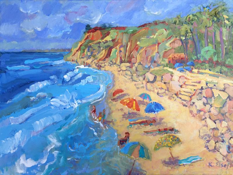 """Hendry's Beach"" acrylic 18"" x 24"""